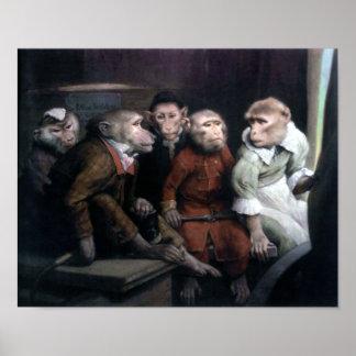 Five Fancy Monkeys Poster