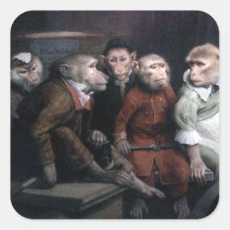 Five Fancy Monkeys Square Sticker