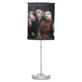 Five Fancy Monkeys Table Lamp