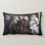 Five Fancy Monkeys Throw Pillows