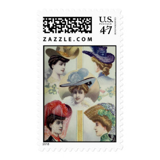 Five Fantastic Hats Postage