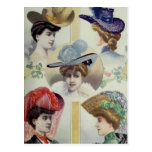 Five Fantastic Hats Postcard