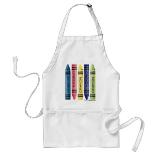 Five fat crayons adult apron