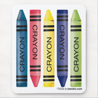 Five fat crayons mouse pad