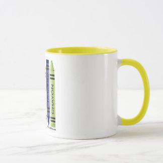 Five fat crayons mug