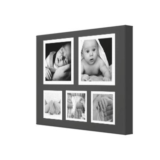 Five Fave Photos with White Frames Collage Canvas Print