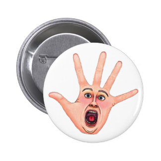 Five Fingered Face Pinback Button