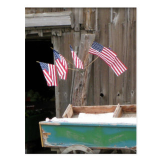 Five Flags and Barn Postcard