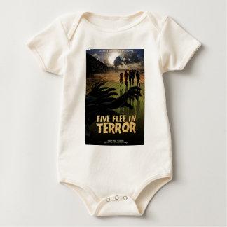 Five Flee in Terror Baby Bodysuit