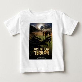 Five Flee in Terror Tee Shirts