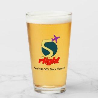 Five Flight (5 Flight) Beer. Glass
