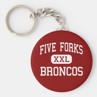 Five Forks - Broncos - Middle - Lawrenceville Keychain