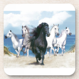 Five Galloping Horses Beverage Coasters