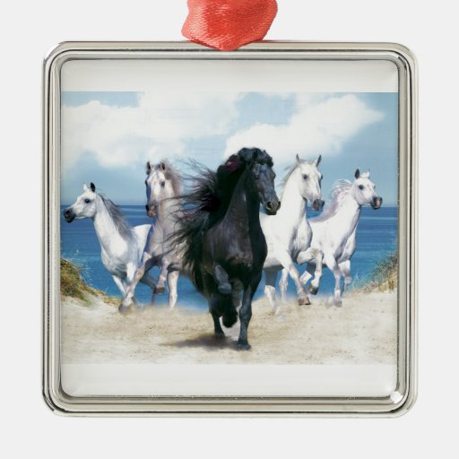 Five Galloping Horses Ornaments