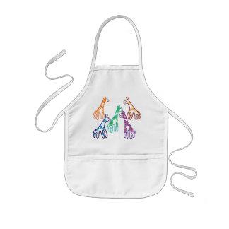 Five giraffes kids' apron