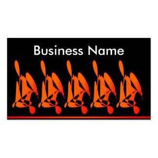Five Girls Sitting Business Card