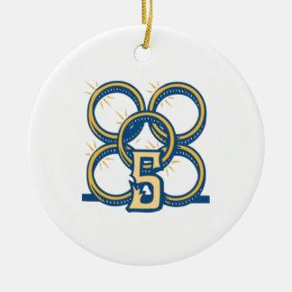 Five Gold Rings! Ceramic Ornament