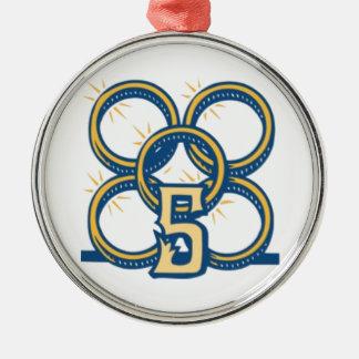 Five Gold Rings! Metal Ornament