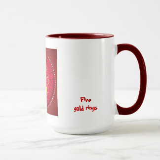 Five gold rings mug
