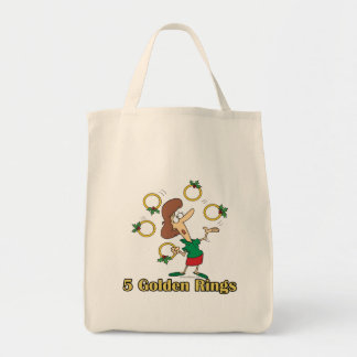 five golden gold rings 5th fifth day of christmas bags