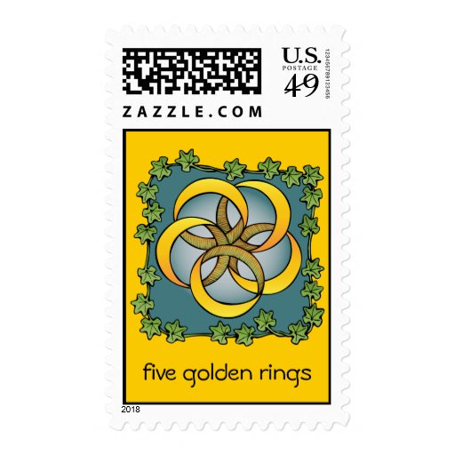 Five golden rings postage