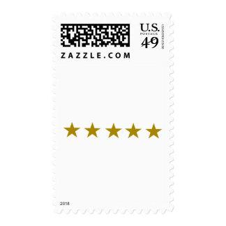 Five Golden Stars Postage Stamps