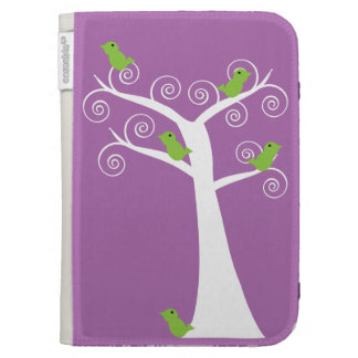 Five Green Birds in a Tree Caseable Case Kindle Folio Cases