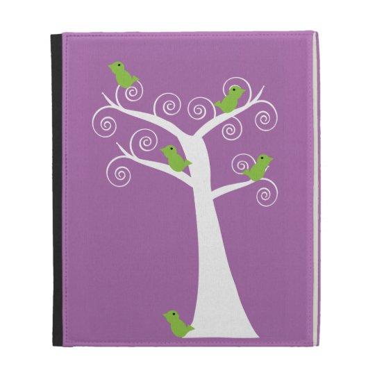 Five Green Birds in a Tree Caseable Case iPad Folio Cases
