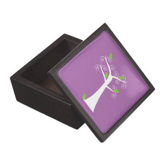 Five Green Birds in a Tree Premium Gift Box