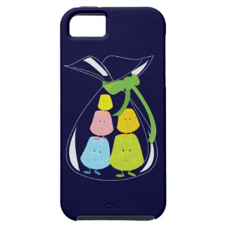 Five gumdrop characters in a bag iPhone SE/5/5s case