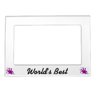 Five headed purple dragon png magnetic frame