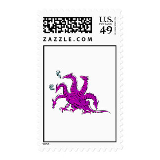 Five headed purple dragon.png postage