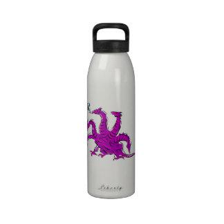 Five headed purple dragon png water bottle