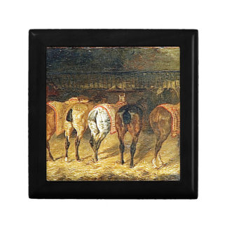 Five horses seen from behind with croupes gift box
