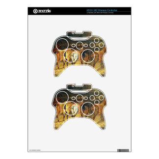 Five horses seen from behind with croupes xbox 360 controller skin