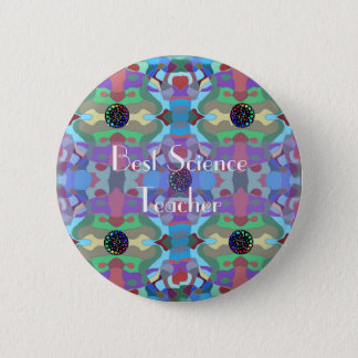 Five Jewels Abstract Design Button