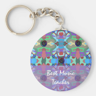 Five Jewels Abstract Design Keychain