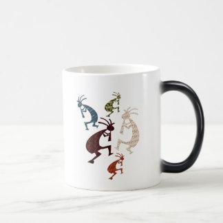 Five Kokopelli Magic Mug