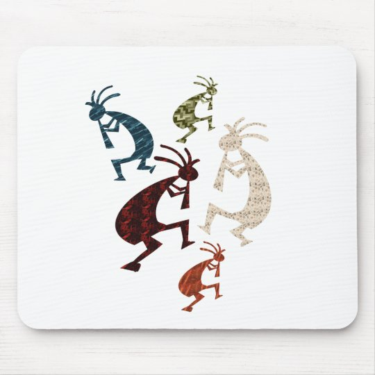 Five Kokopelli Mouse Pad