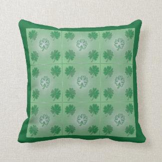Five leaf clover green pillow