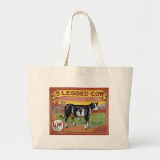 Five Legged Cow Large Tote Bag