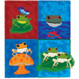 Five little frogs statuette