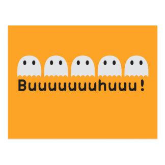 Five little ghosts Buuuuhuu Postcard