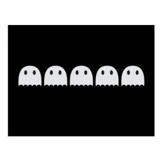 Five little ghosts postcard