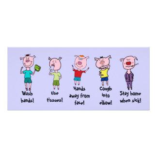 Five little piggies rack card