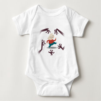 Five Little Zombies And Fred Gear Baby Bodysuit