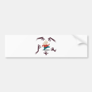 Five Little Zombies And Fred Gear Bumper Sticker