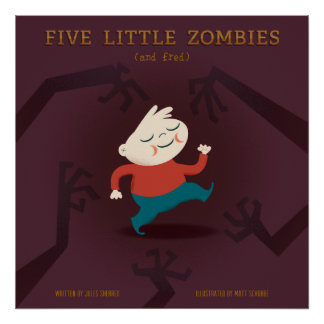 Five Little Zombies And Fred Gear Poster