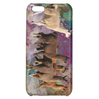 Five Llama Cloud Walk Fantasy White & Brown LLamas iPhone 5C Cases
