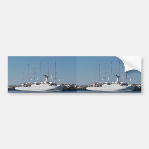 Five Masted Cruise Ship Bumper Stickers